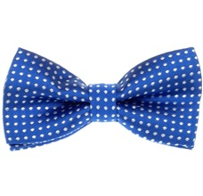 Royal Blue Boys's Bow Tie with White Dots