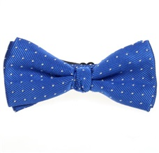 Royal Blue Boy's Bow Tie with Dots