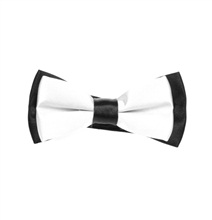 Black and White Boy's Bow Tie