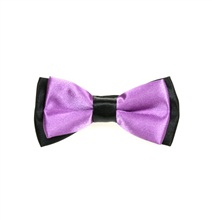 Black and Lilac Boy's Bow Tie