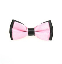 Black and Pink Boy's Bow Tie