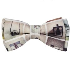 Boy's Bow Tie with Cameras