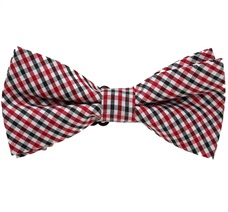 Black and Red Tartan Boy's Bow Tie