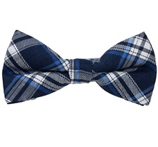 Dark Blue Tartan Boy's Bow Tie