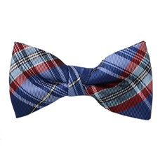 Blue and Red Tartan Boys' Bow Tie