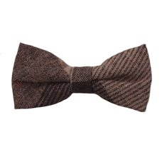 Brown Tartan Boy's Bow Tie