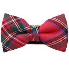 Red and Green Tartan Boy's Bow Tie