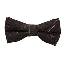 Brown Square Boy's Bow Tie