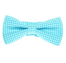 Turquoise Vichy Checked Boy's Bow Tie