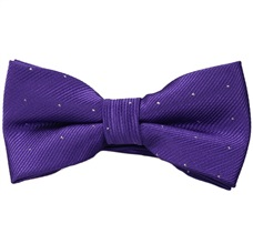 Purple Boy's Bow Tie with Dots