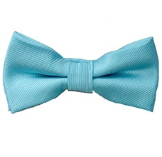 Turquoise Boy's Bow Tie with Dots