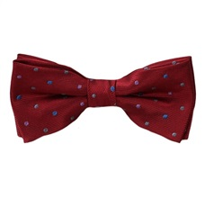 Garnet Boy's Bow Tie with Dots