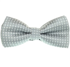 Grey Boy's Bow Tie with Dots