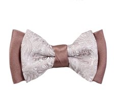Brown Boy's Bow Tie Paisley