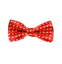 Red Boy's bow Tie with White Dots