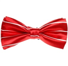 Red and White Stripes Boy's Bow Tie