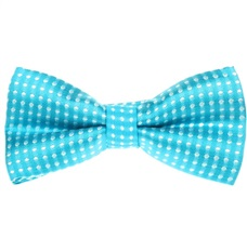 Turquoise Boy's Bow Tie Dots