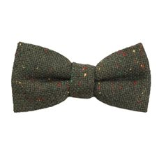 Jasbiated Green Boy's Bow Tie with Colors
