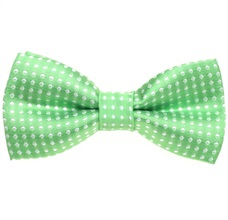 Green Pistachio Boy's Bow Tie with Dots