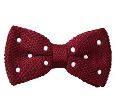 Garnet Bow Tie with Dots
