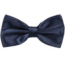Dark Blue Satin Bow Tie