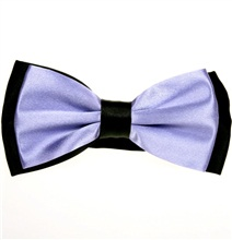 Mauve and Black Satin Bow Tie