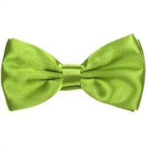 Pistachio Green Satin Bow Tie