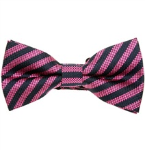 Magenta and Blue Stripes Bow Tie