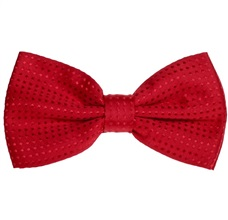 Red Bow Tie with Red Dots