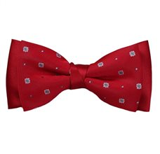 Red Bow Tie with Design