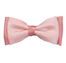 Salmon Pink Bow Tie with Paisley