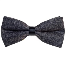 Grey Bow Tie Spike Woven