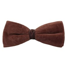 Brown Velvet Bow Tie