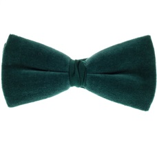 Dark Green Velvet Bow Tie