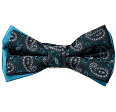Turquoise Bow Tie Cashmere