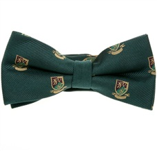 Dark Green Bow Tie with Heraldic Shield