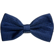 Deep Blue Bow Tie with Dots