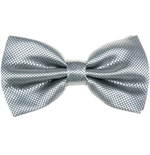 Pearl Grey Dress Bow Tie