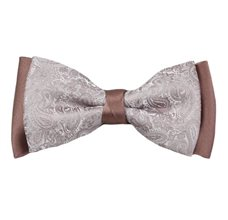 Mink Bow Tie with Paisley