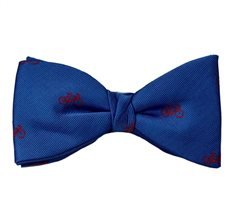 Royal Blue Bow Tie and Pocket Square with Bicycles