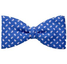 Royal Blue Bow Tie and Pocket Square with Pink Cashmere