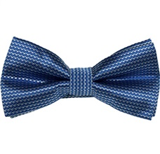 Blue Bow Tie and Pocket Square with Checks