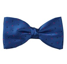 Royal Blue Bow Tie and Pocket Square with Dots