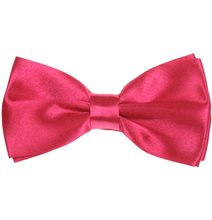 Fuchsia Bow Tie and Pocket Square