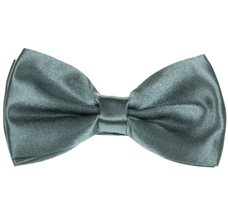Dark Grey Bow Tie and Pocket Square