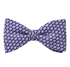 Mallow Bow Tie and Pocket Square with Geometric Design
