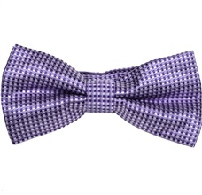 Purple Bow Tie and Pocket Square with Checks