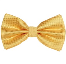 Yellow Satin Bow Tie and Pocket Square