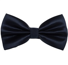 Blue Satin Bow Tie and Pocket Square