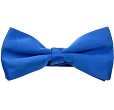 Royal Blue Satin Bow Tie and Pocket Square